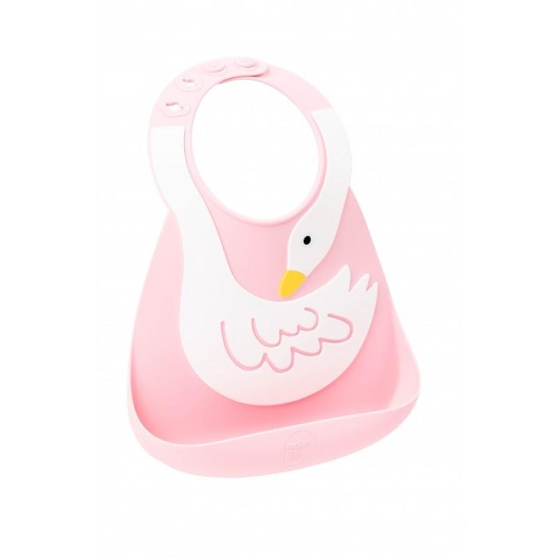 Нагрудник Make my day Baby Bib Swan