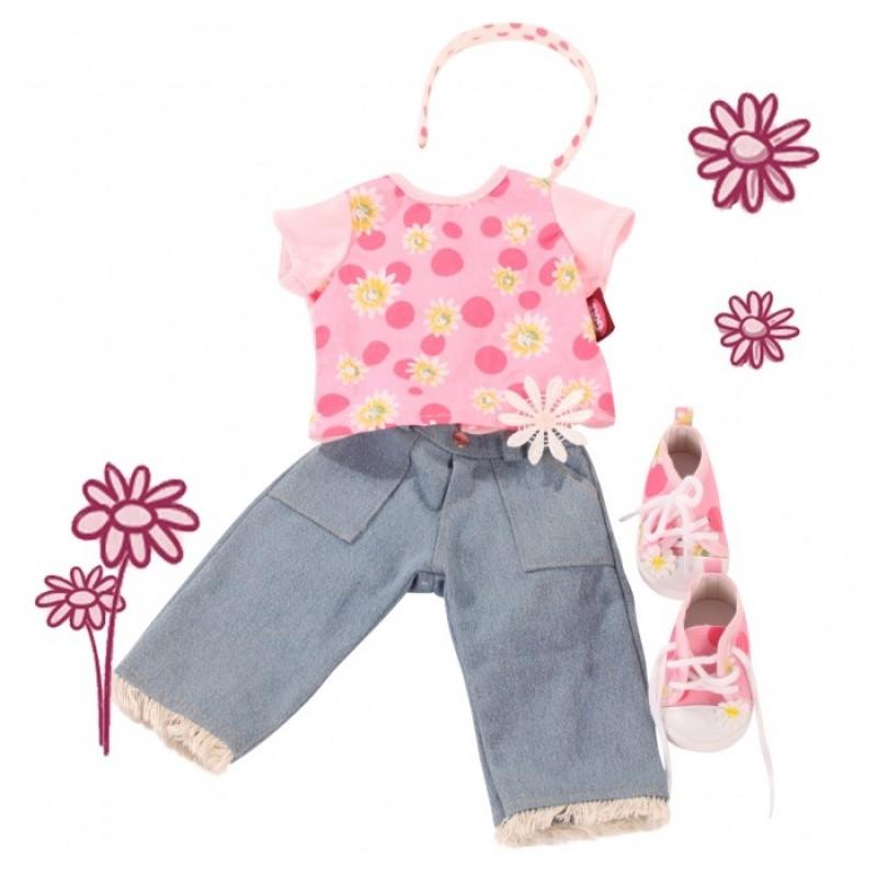 Gotz Набор одежды Джинсы, футболка и кеды для кукол 45-50 см