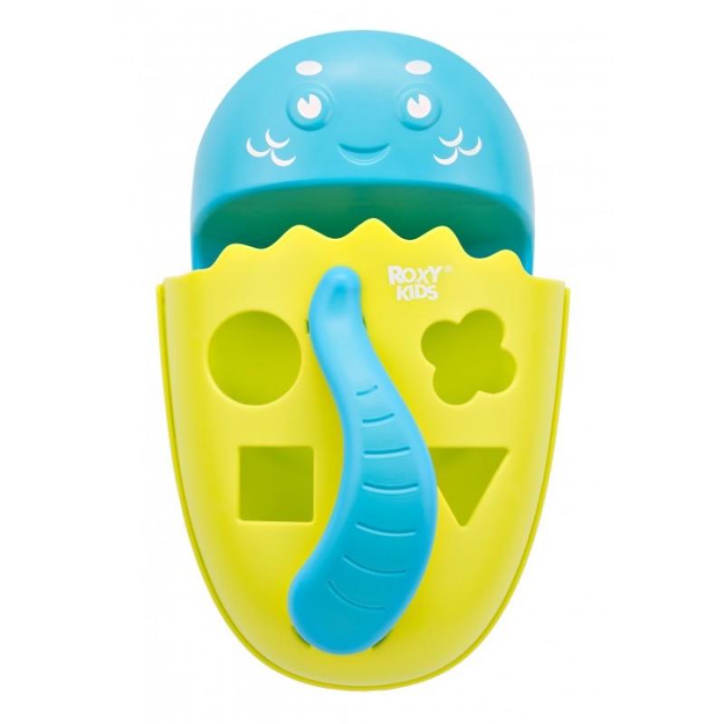 ROXY-KIDS Органайзер-сортер Dino с полкой для игрушек и банных принадлежностей