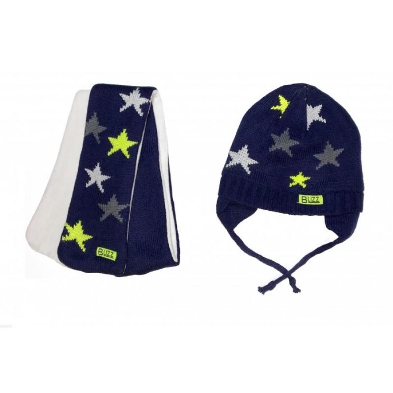 Blizz Комплект для мальчика (шапка и манишка) BLI1801
