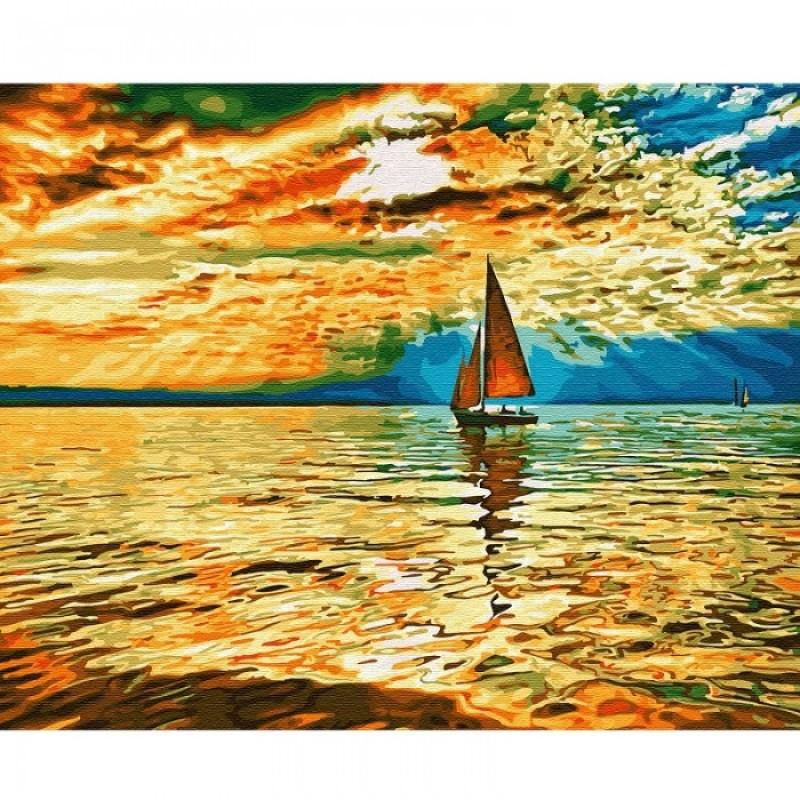 Molly Картина по номерам Заход солнца 40х50 см