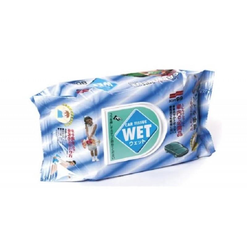 Soft99 Салфетки влажные универсальные Wet Tissue 80 шт.