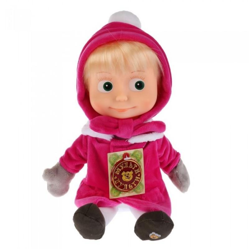 Мягкая игрушка Мульти-пульти Маша в зимней одежде поет и говорит 29 см