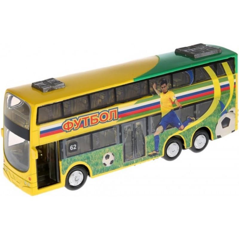 Технопарк Автобус инерционный со светом и звуком CT10-054-6