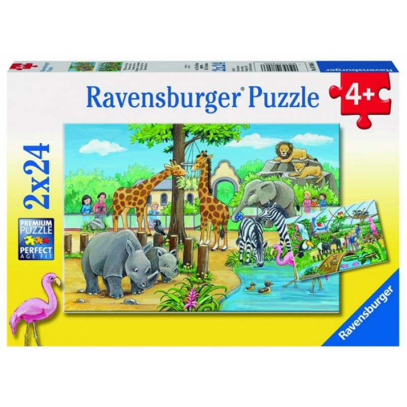 Ravensburger Пазл Добро пожаловать в зоопарк! 2х24 детали