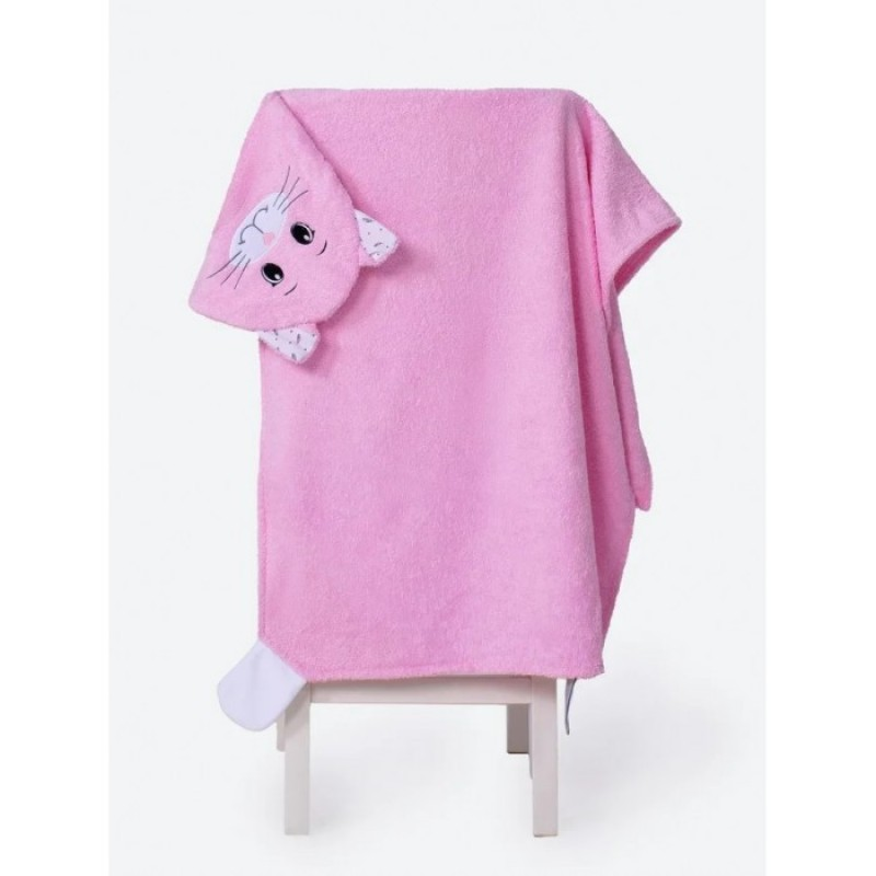 BabyBunny Полотенце с капюшоном Кошечка М 125х65