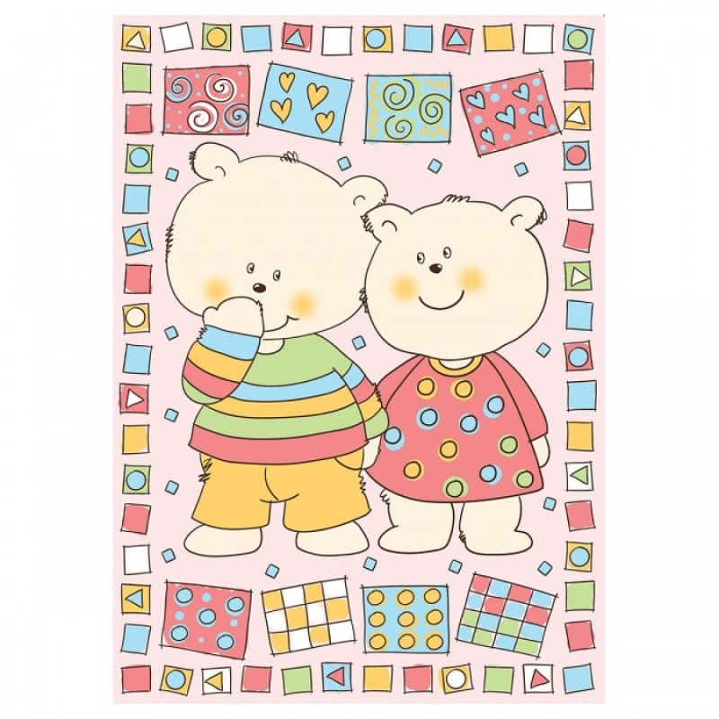 Одеяло Baby Nice (ОТК) байковое Два медведя 100х140 см