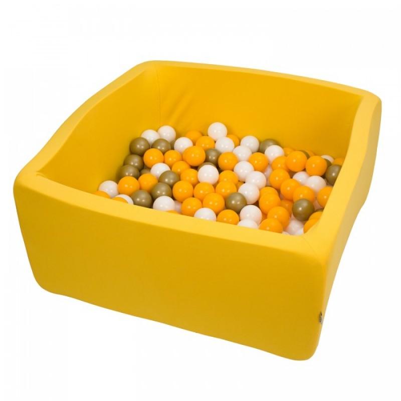 Hotenok Сухой игровой бассейн Премиум золото квадро 40 см с комплектом шаров 200 шт.