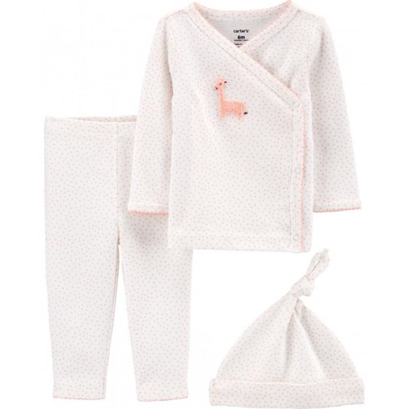 Carter's Комплект для девочки (фуфайка, штанишки, шапочка) 17583010