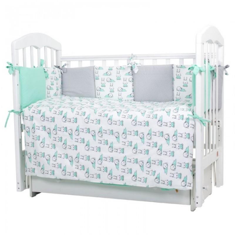 Комплект в кроватку Топотушки Зайчики (6 предметов)