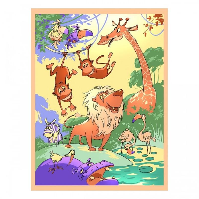 Baby Nice (ОТК) покрывало Velsoft пано Царь зверей 150х200 см