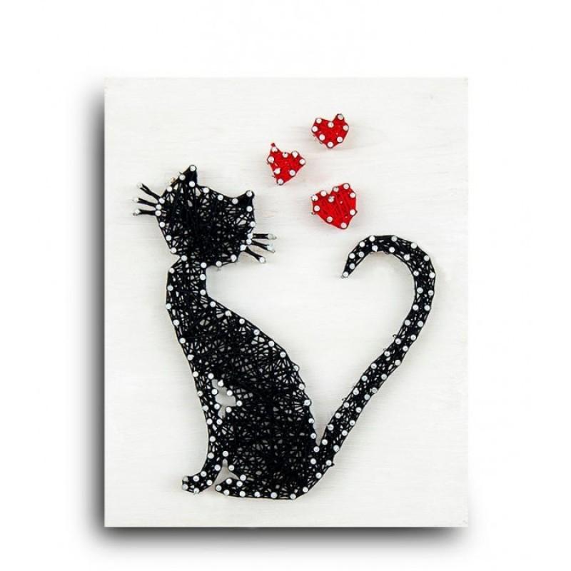 String Art Lab Набор для творчества Стринг арт Кошка