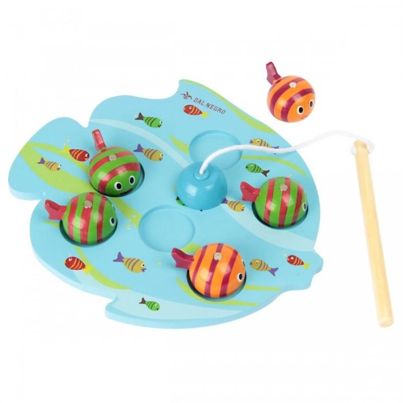 Деревянная игрушка Фабрика фантазий рыбалка Шустрые рыбки