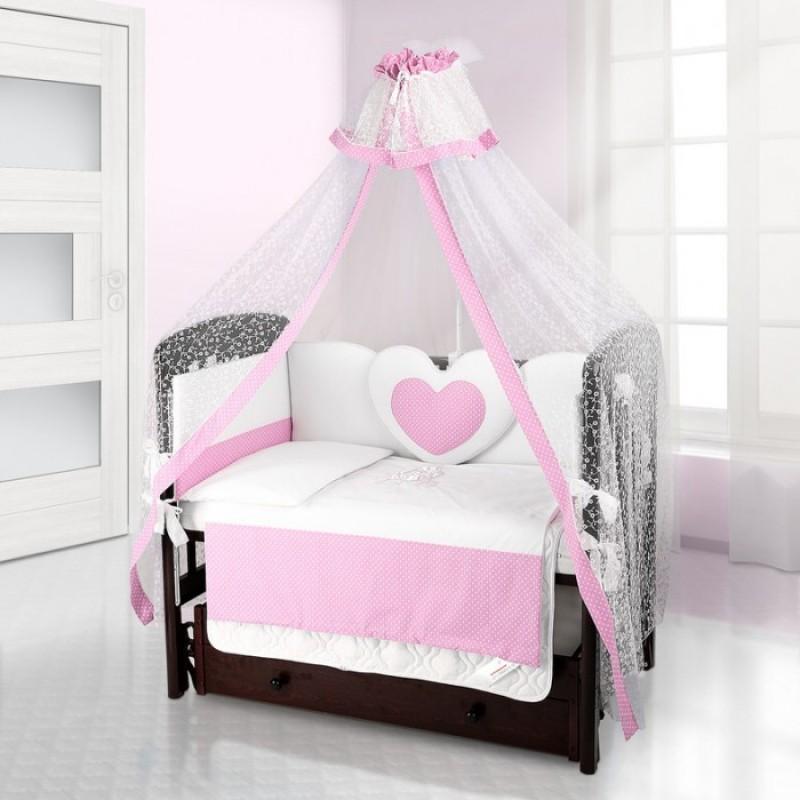 Комплект в кроватку Beatrice Bambini Cuore Puntini (6 предметов)