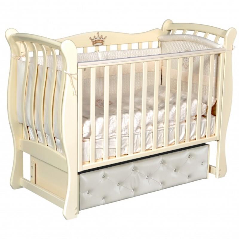 Детская кроватка Антел Luiza 3 (универсальный маятник)