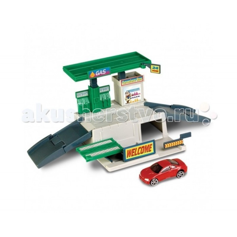 Autogrand Набор транспорта Megapolis с машиной Заправка 1:60