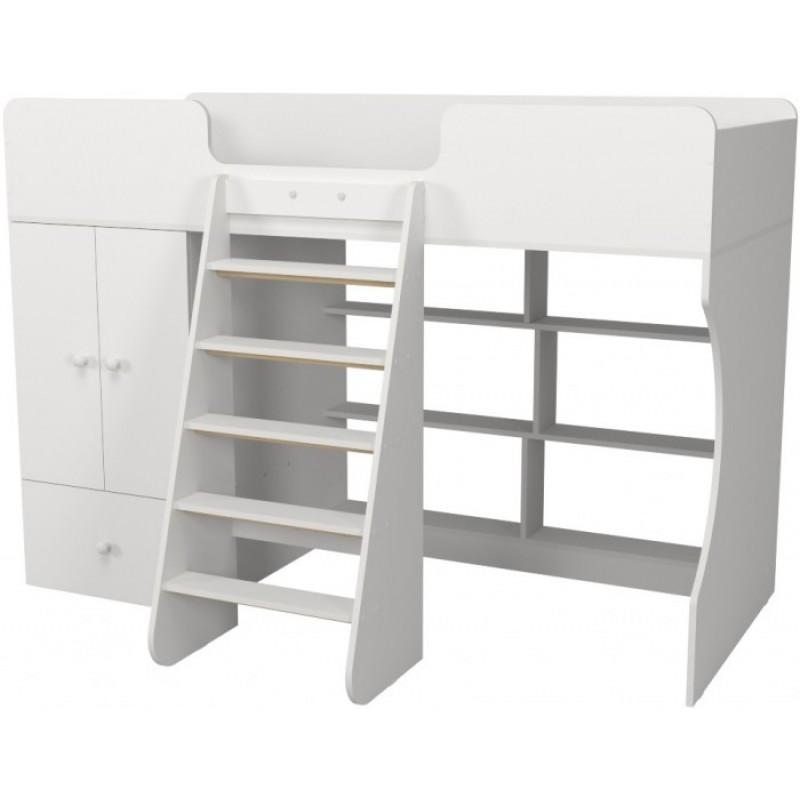 Подростковая кровать Капризун 1 чердак Р445 со шкафом