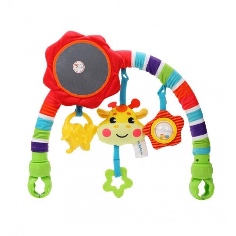 Жирафики Развивающая дуга с 5-ью съемными игрушками Жирафик