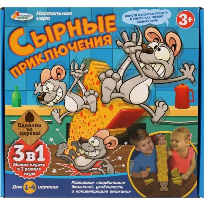 Играем вместе Настольная игра Сырные приключения