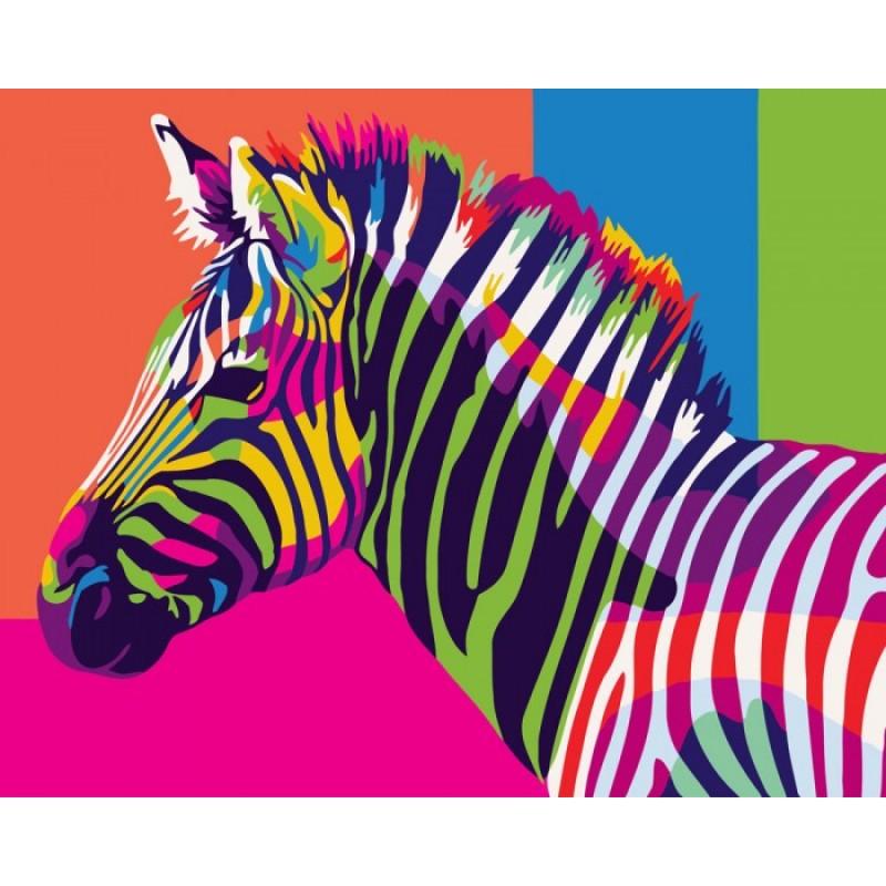 Paintboy Картина по номерам Разноцветные полоски 40х50 см