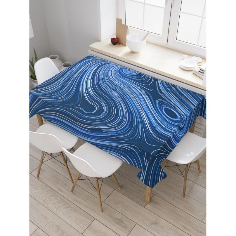 JoyArty Скатерть прямоугольная Синие вихри 145x120 см