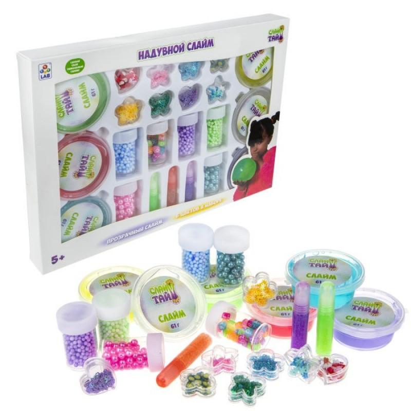 1 Toy Слайм тайм Набор надувного слайма (6 видов) Т17647