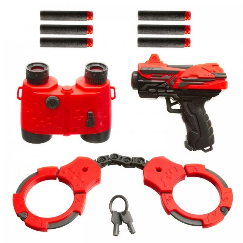 Bondibon Набор Властелин (бластер, мягкие пули, наручники, ключи, бинокль)