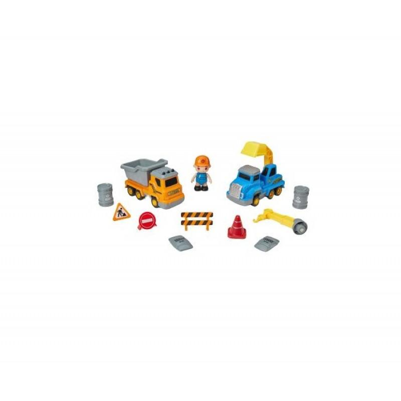 Happy Baby Дорожная техника с аксесcуарами Magnetic Engineer Set