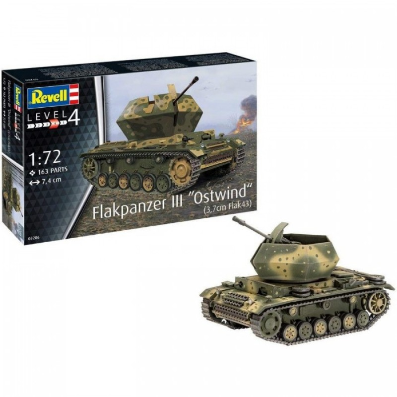 Revell Сборная модель САУ Flakpanzer III Ostwind 1:72