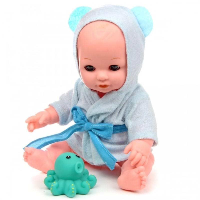 Lisa Jane Кукла-Пупс в голубом халатике с аксессуарами и звуками 30 см