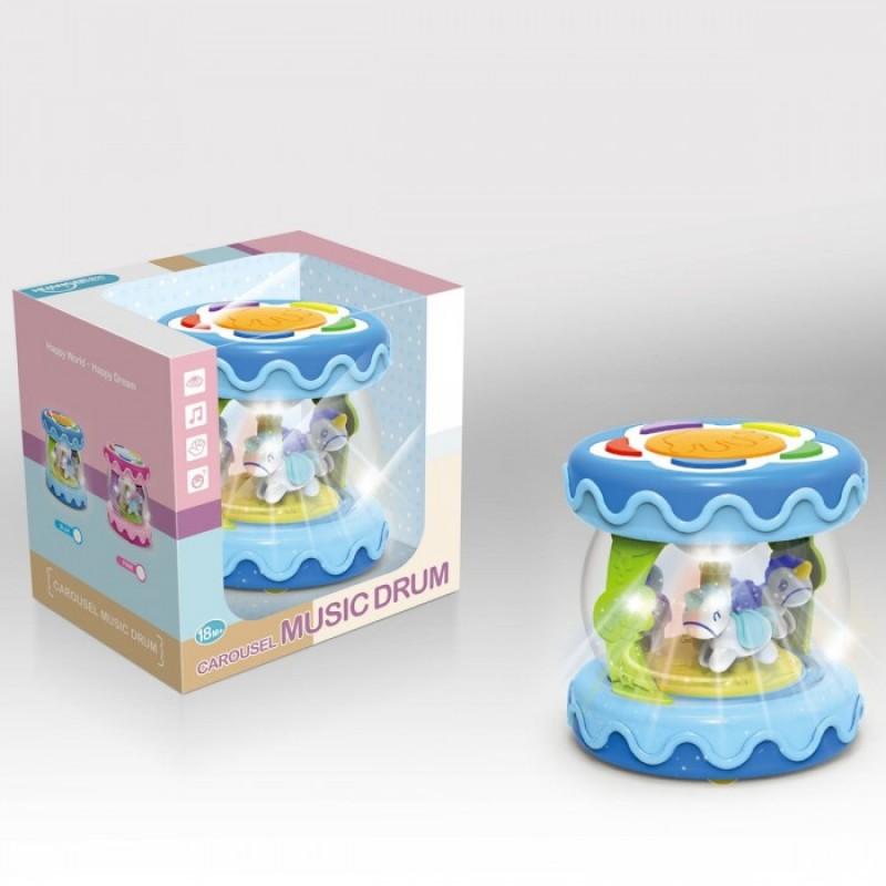 Развивающая игрушка Ути Пути барабан Лошадки на карусели
