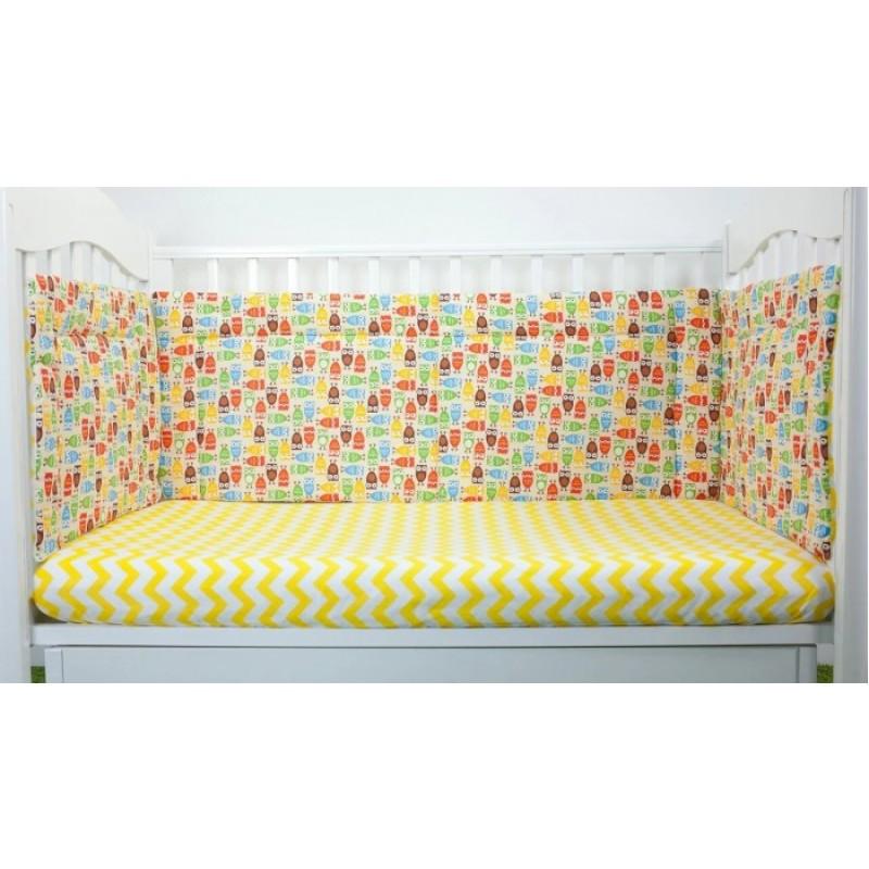 Бортик в кроватку Magic City Важные совы 30x60 см