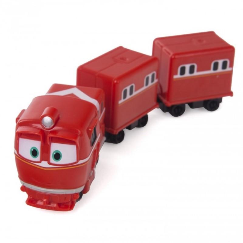 Robot Trains Паровозик с двумя вагонами Альф
