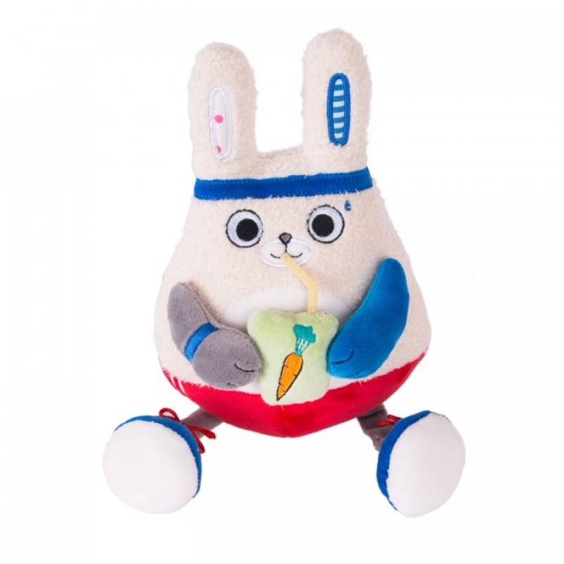 Мягкая игрушка Gulliver Заяц-энергетик 15 см