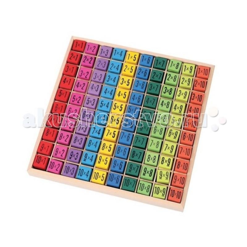 Деревянная игрушка Mapacha Развивающая игра Таблица умножения