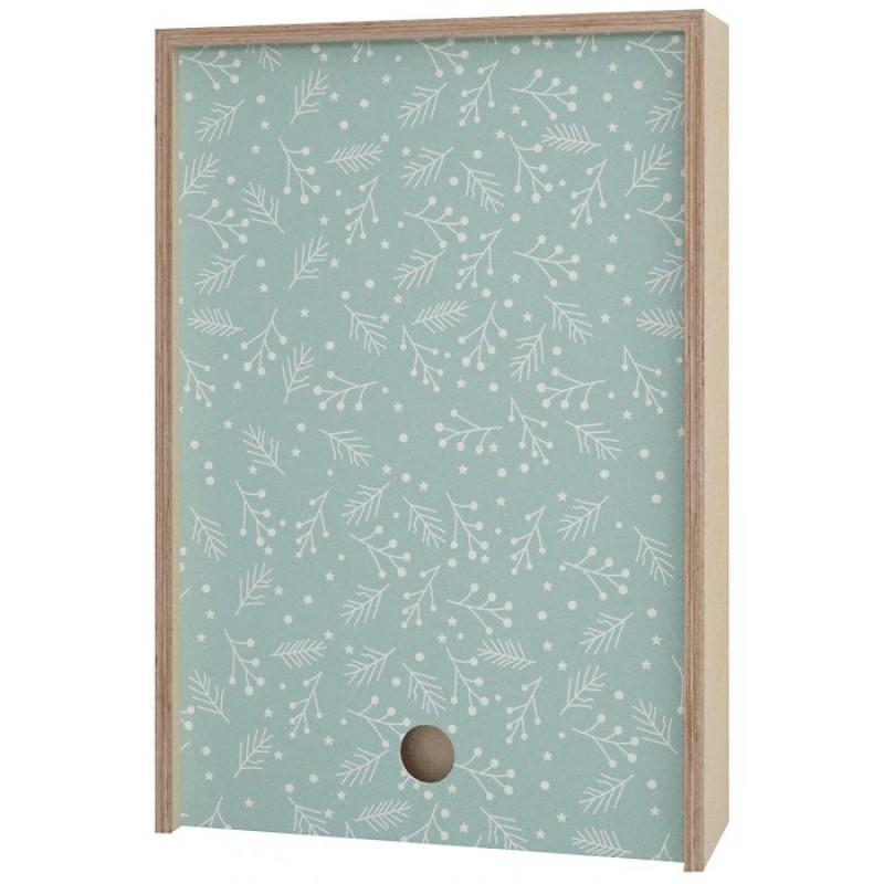 Акушерство Деревянная подарочная коробка Memory Box New Year 38х25х10 см