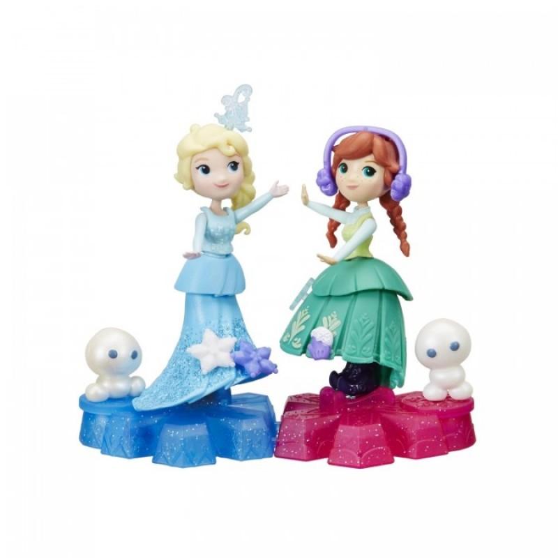 Disney Princess Холодное сердце Маленькая кукла на движущейся платформе-снежинке