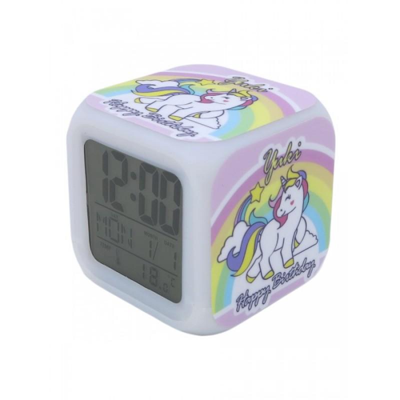Часы Mihi Mihi Будильник Единорог с подсветкой №8